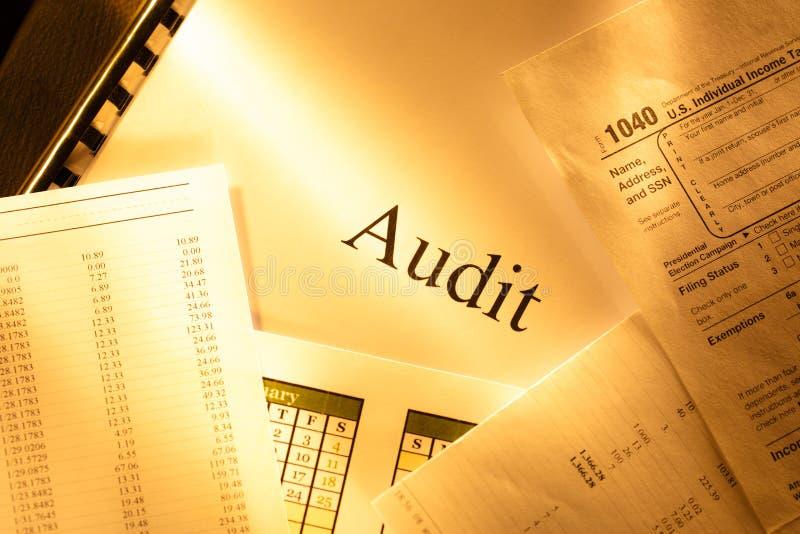 Budget annuel, calendrier et audit photographie stock