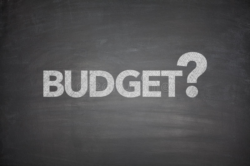 Budget on Blackboard royalty free stock photos