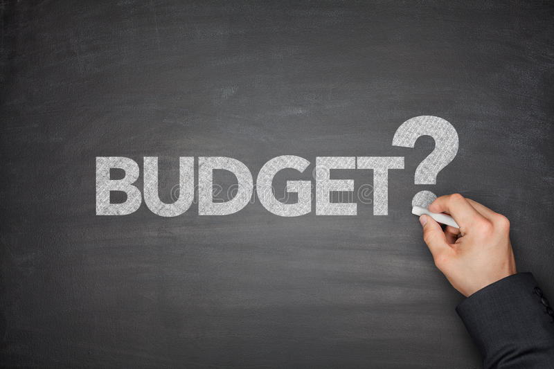 Budget on Blackboard royalty free stock photography