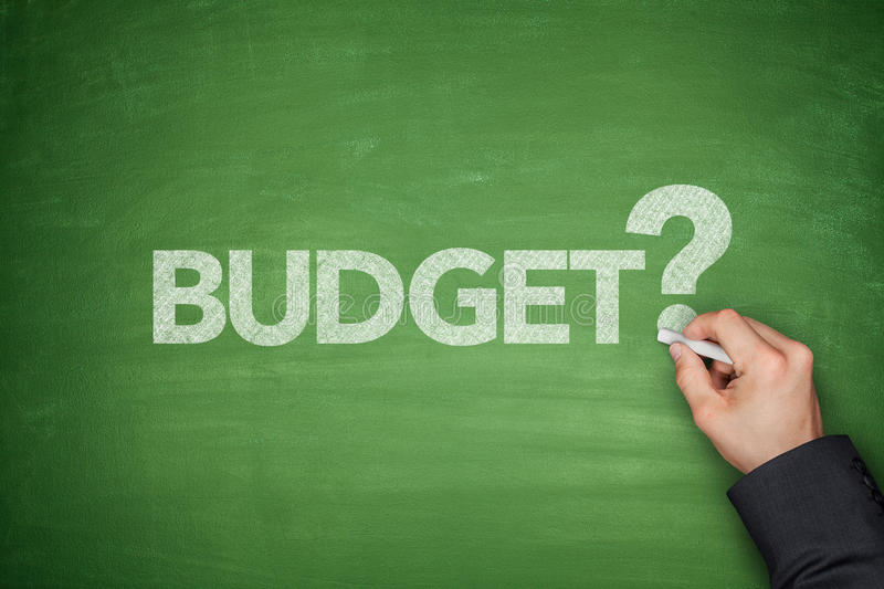 Budget on Blackboard stock images
