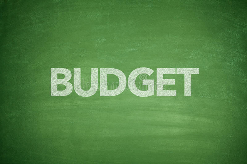 Budget on Blackboard stock image