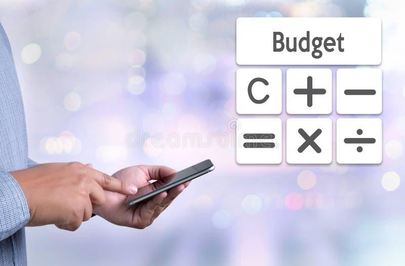 Budget Calcul d'opérations bancaires de comptabilité d'investissement productif de calcul illustration stock