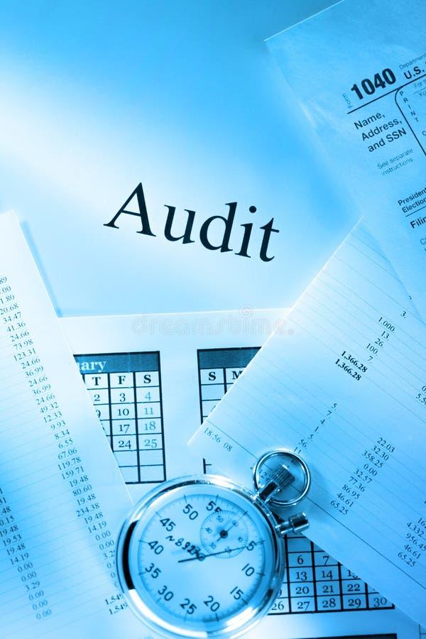 Budget, calendar, stopwatch and audit stock photos