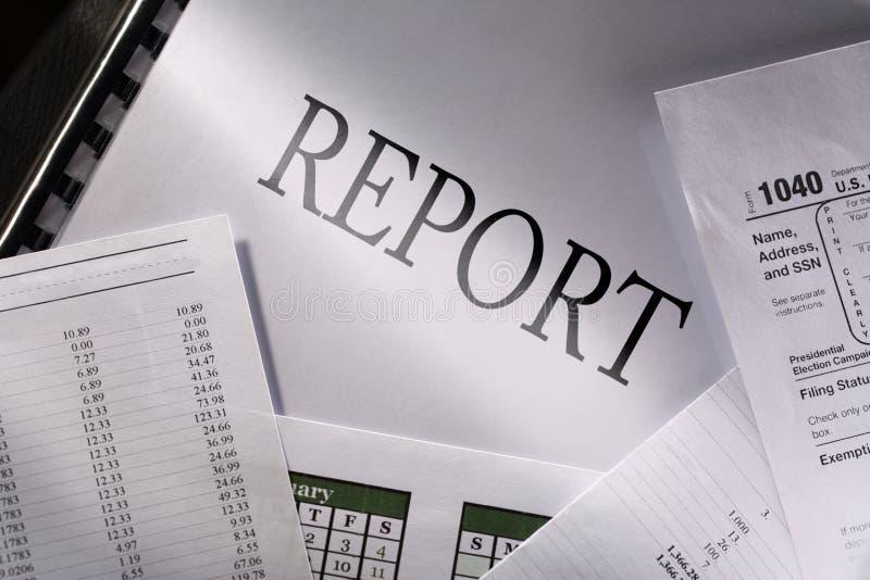 Budget, calendrier et rapport photographie stock