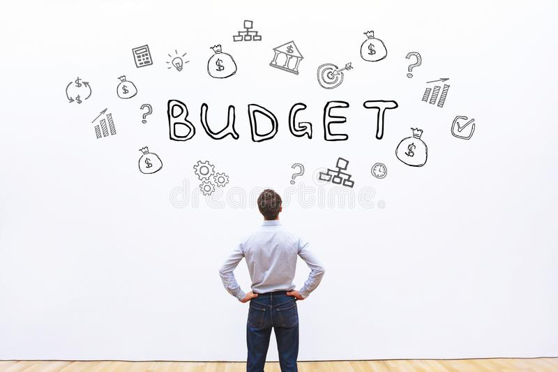 Budget concept, financial planning. In business company stock photo