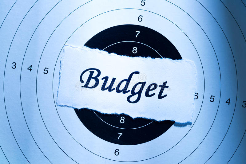 Budget concept stock photos