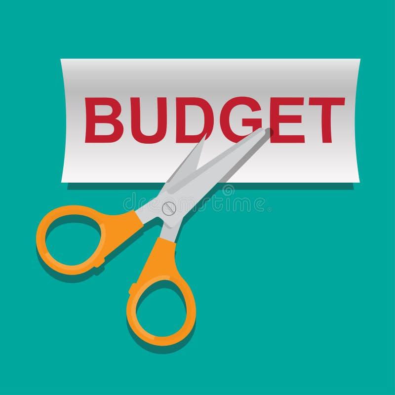Budget cut concept vector illustration. vector illustration