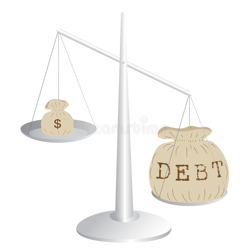 Download Budget deficit stock vector. Image of commodity, deficit - 8041841