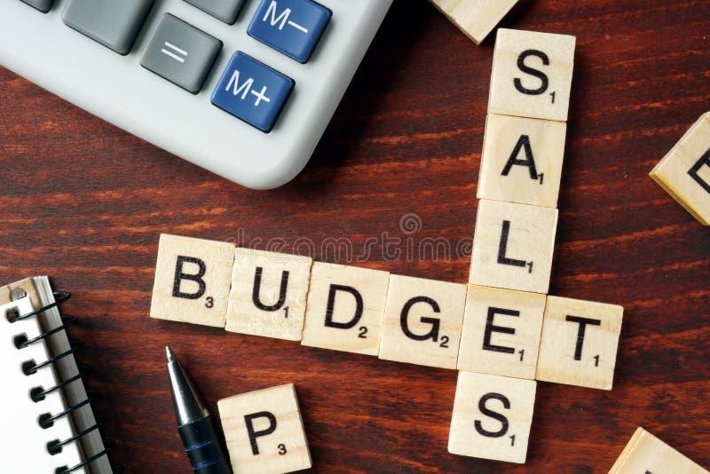 Budget des ventes images stock