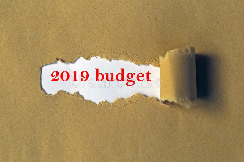 Budget 2019 stockfotos