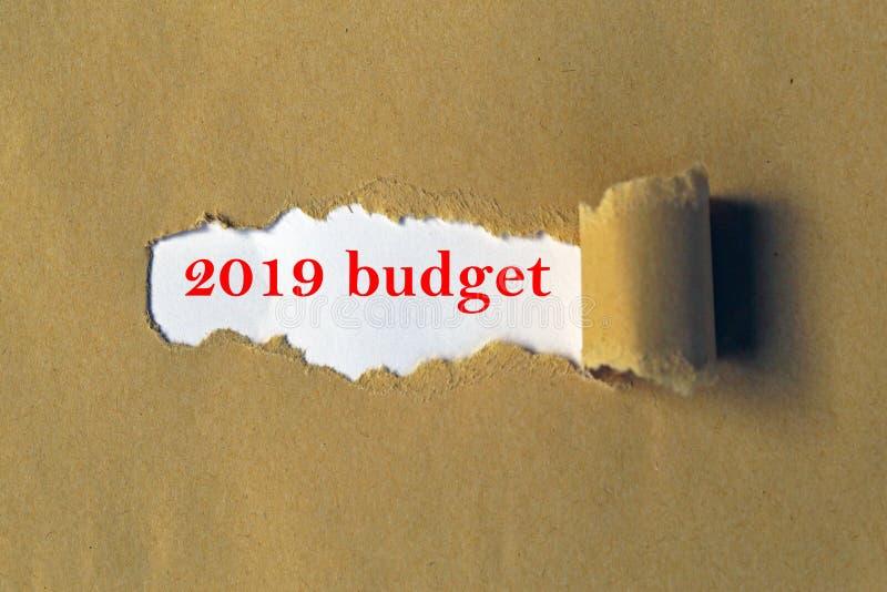 budget 2019 arkivfoton