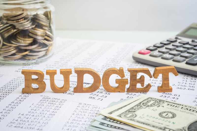 Budget and financial management for business project. royalty free stock photos