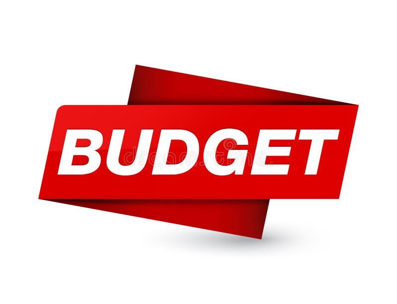 Budget- högvärdigt rött etikettstecken vektor illustrationer