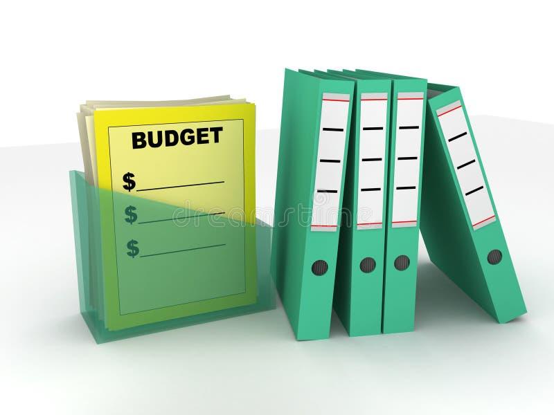 budget- mappar vektor illustrationer