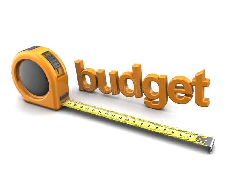 Budget- metrik royaltyfri illustrationer