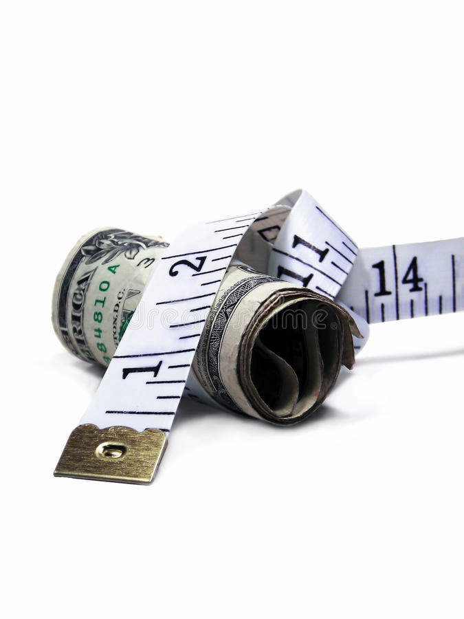 Download Budget Money on a Diet stock photo. Image of measuring - 16584094