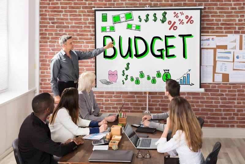 Budget- och finanspresentation arkivbild