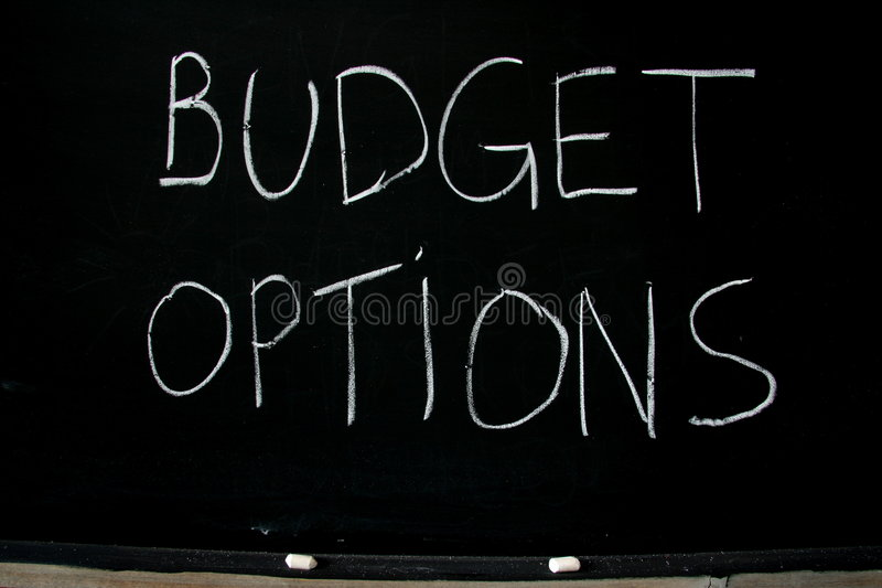 Budget options stock photography
