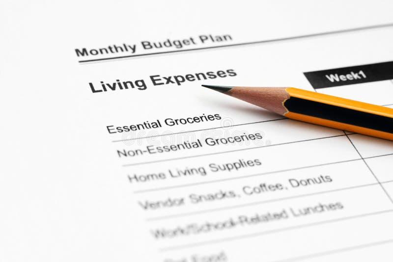 budget- plan arkivbilder