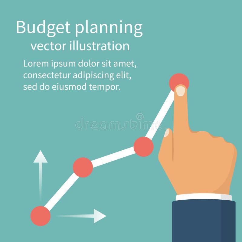 Budget- planläggningsbegrepp royaltyfri illustrationer