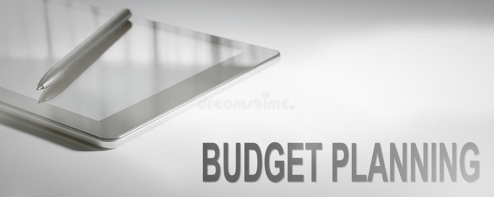 BUDGET PLANNING Business Concept Digital Technology. royalty free stock photography