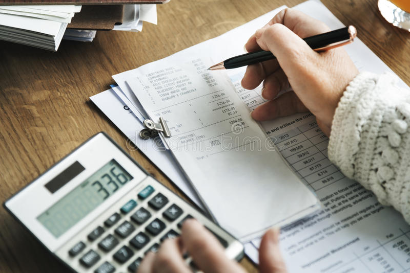 Budget-Planungs-Buchhaltungs-Bilanzauffassung lizenzfreie stockbilder