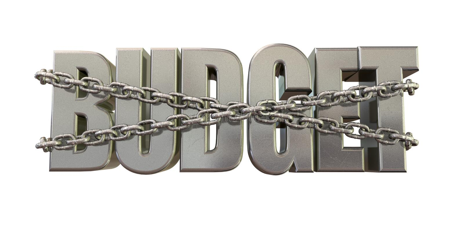 Budget Restraints And Chains Royalty Free Stock Photo