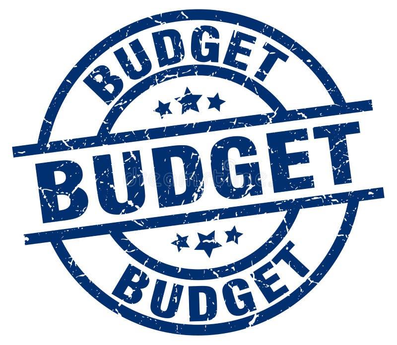 Budget- stämpel vektor illustrationer