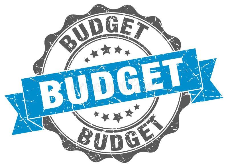 Budget- stämpel stock illustrationer