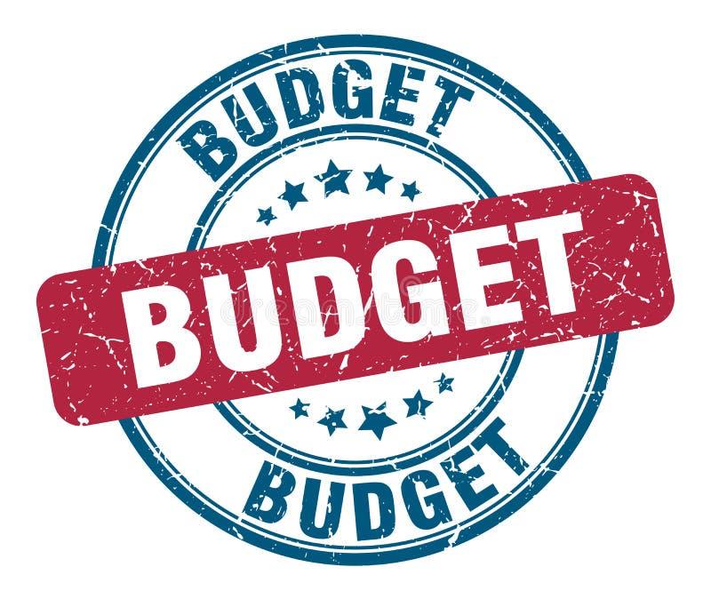 Budget- st?mpel vektor illustrationer