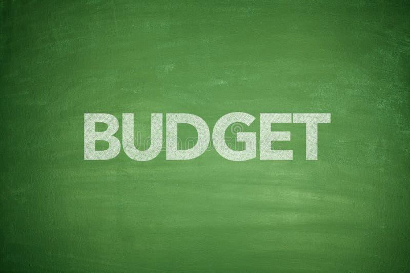 Budget sur le tableau noir image stock