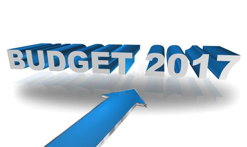 budget- tecken 2017 vektor illustrationer