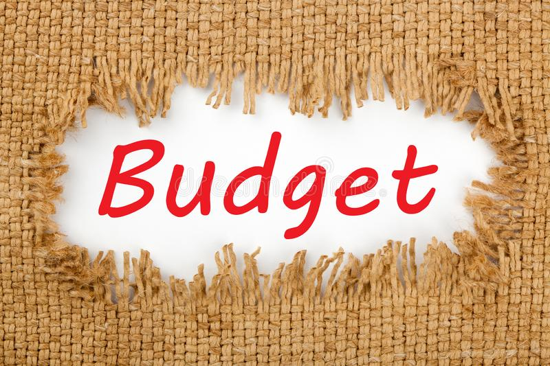 Budget text concept stock photo
