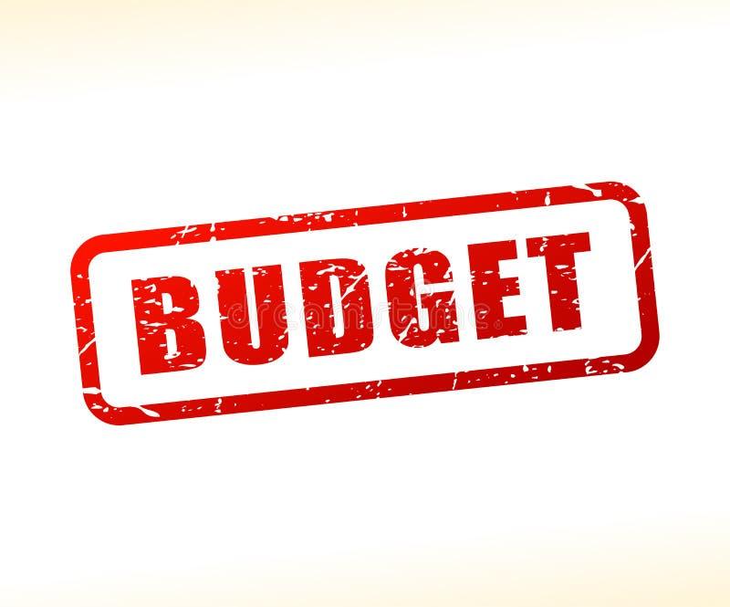 Budget- textstämpel royaltyfri illustrationer