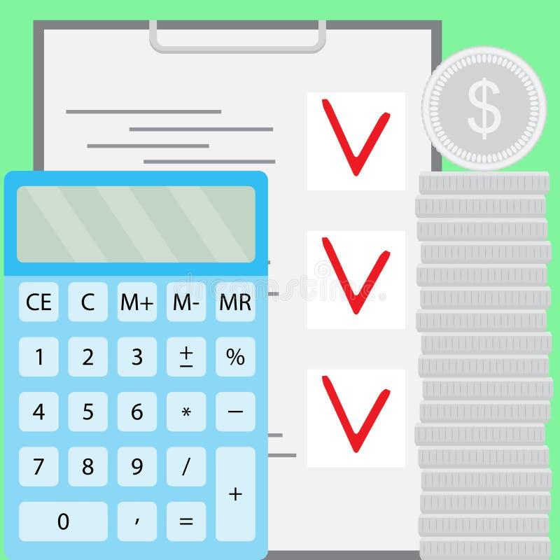 Budget und Finanzierung, Sparguthaben lizenzfreie abbildung