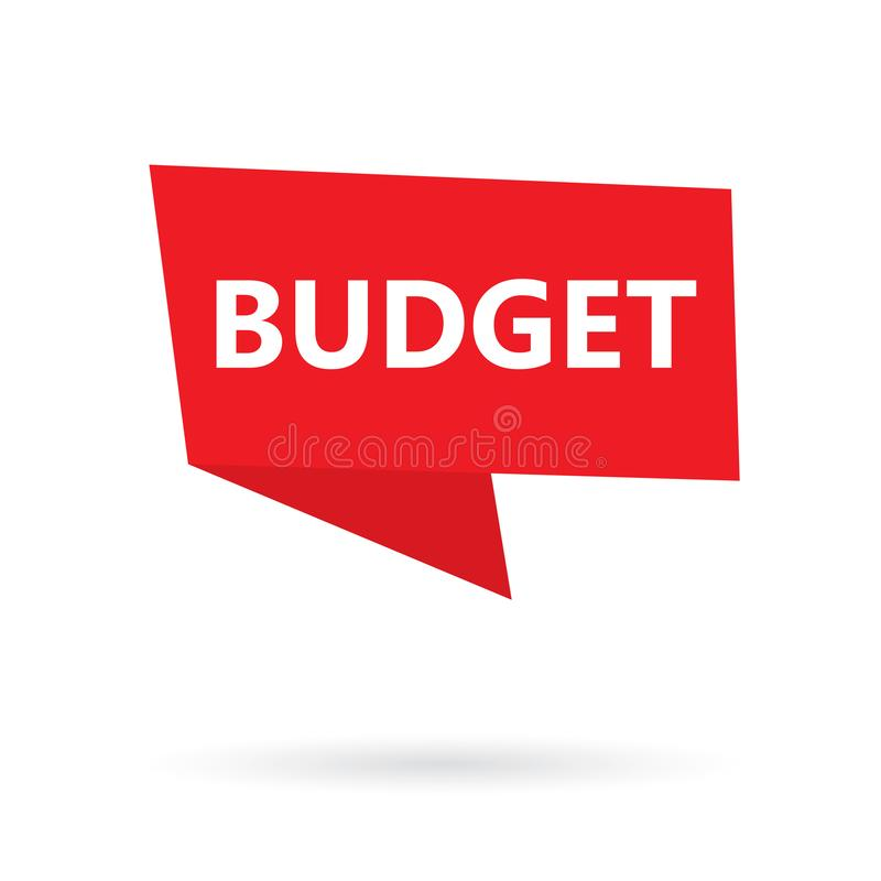 Budget word on a sticker stock illustration