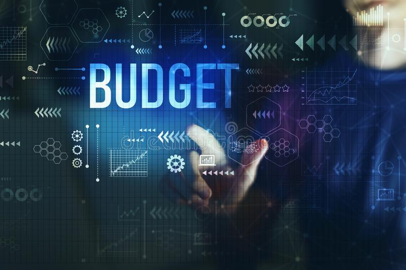 Budget with young man stock images