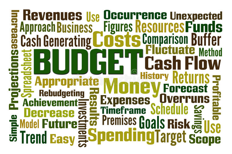 budgeter stock illustrationer