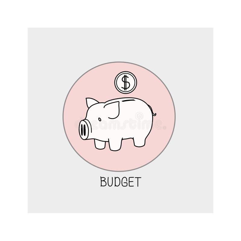 budgeter Begrepp av aff stock illustrationer