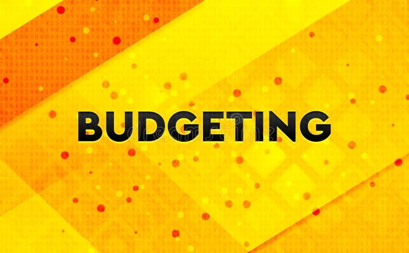 Budgetera gul bakgrund för abstrakt digitalt baner stock illustrationer