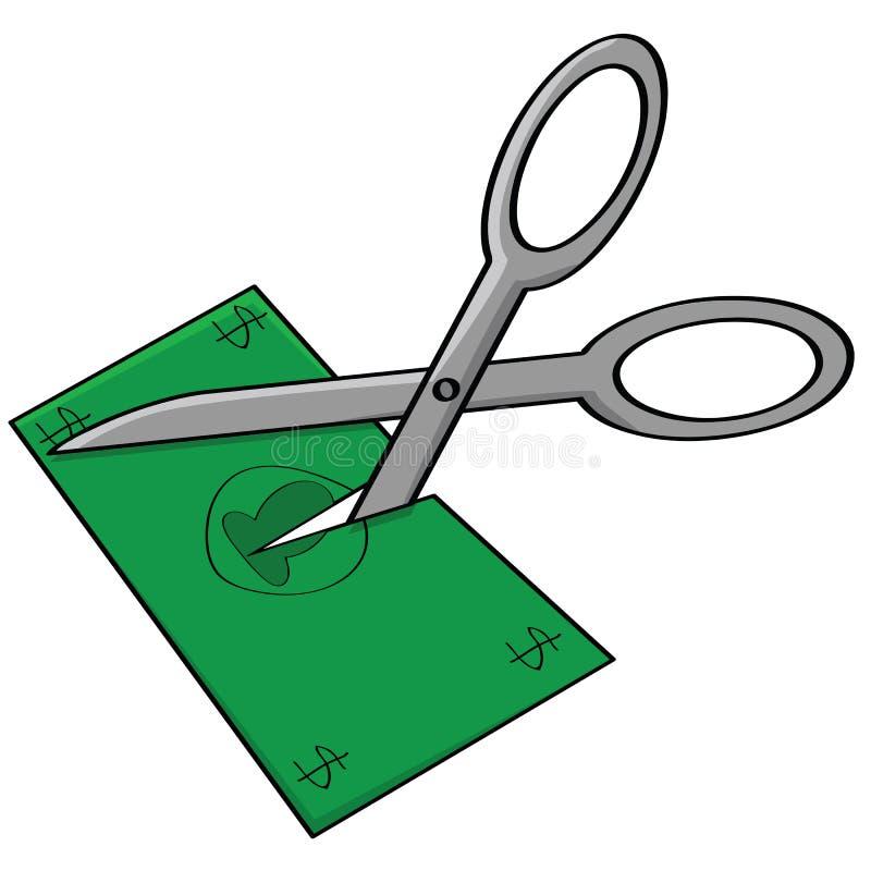 budgetnedskärning stock illustrationer