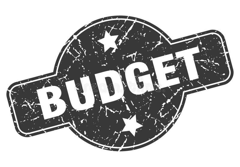 Budgetstempel lizenzfreie abbildung