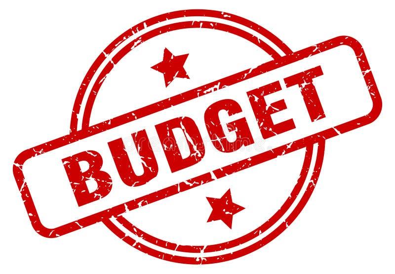 Budgetstempel stock abbildung