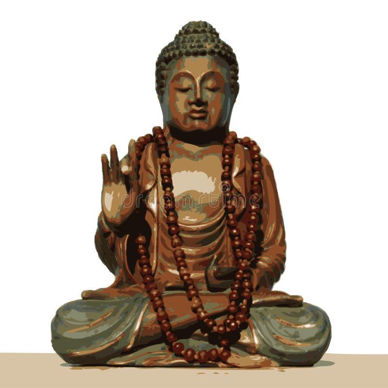 Budha 04 ilustração stock