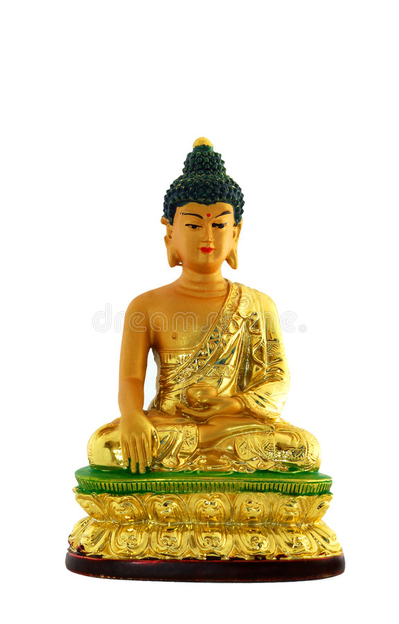 budha d'isolement photographie stock