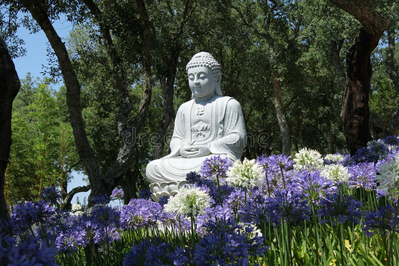 Budha. Garden in Portugal quite near Cadaval area. Very big garden dedicated to peace and quiet, according s image and philosophy royalty free stock photos