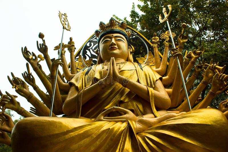 Budha 1000 hand stock photography