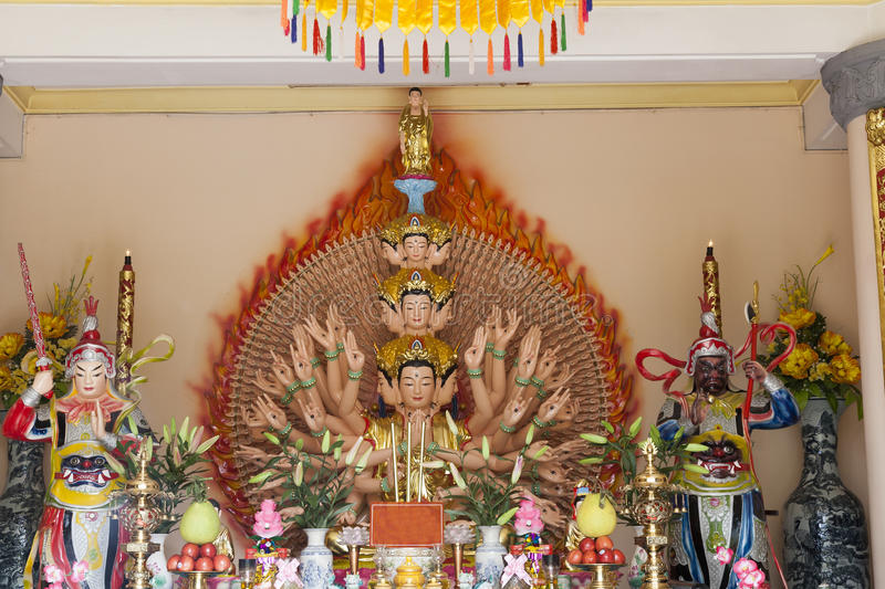 Download Budha with thousand arms stock photo. Image of asia, faith - 37041422