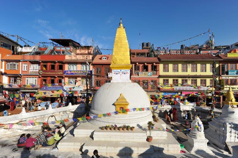 Budhanath Stupa em Kathmandu, Nepal imagens de stock royalty free
