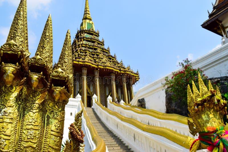 Budhha脚印寺庙 库存照片